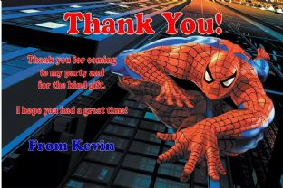 Personalised Spider-man Thank You Cards